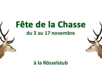 Bienvenue à la Fête de la Chasse dans notre Rösselstub
