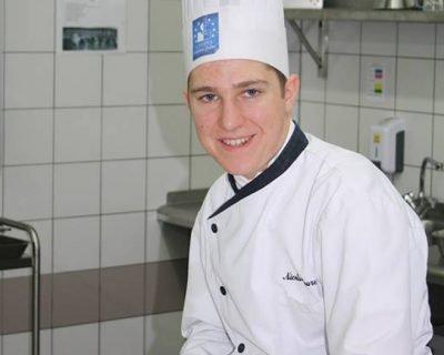 Nicolas Laurent, apprenti à l'Auberge du Cheval Blanc