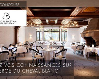 Tentez votre chance au concours de l'Auberge du Cheval Blanc du 01/07/2014 au 21/07/2014 !